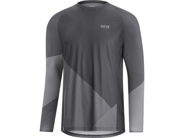 GORE WEAR C5 Trail Langarm Trikot Herren dark graphite grey/graphite grey